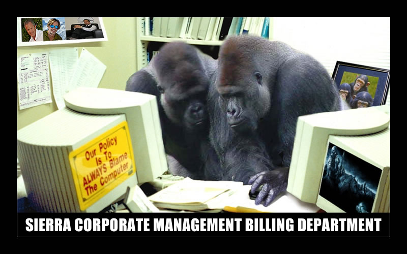 SIERRA CORPORATE MANAGEMENT BILLING DEPARTMENT