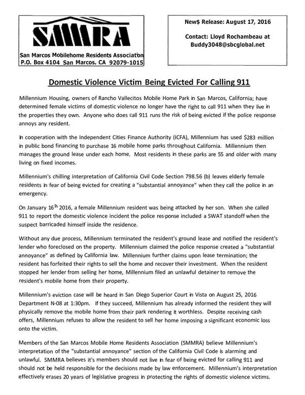 SMMRA Press Release 20160819