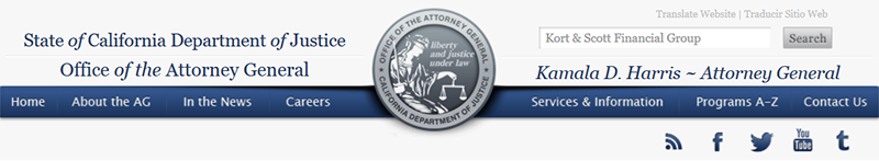 California Department of Justice Office of the Attorney General