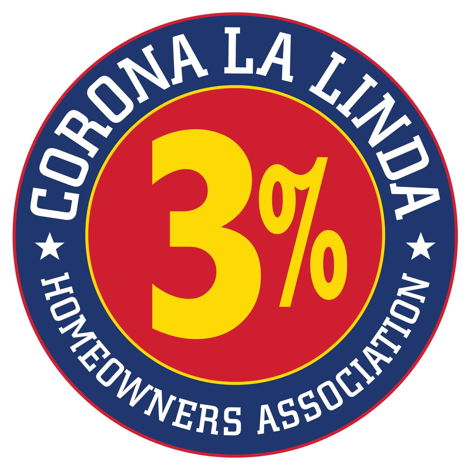 Corona La Linda Homeowners Association 3%