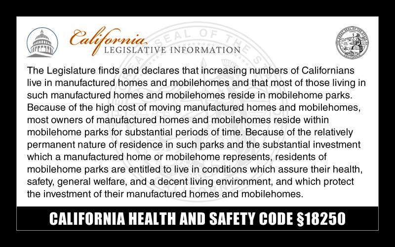 CALIFORNIA HEALTH AND SAFETY CODE §18250