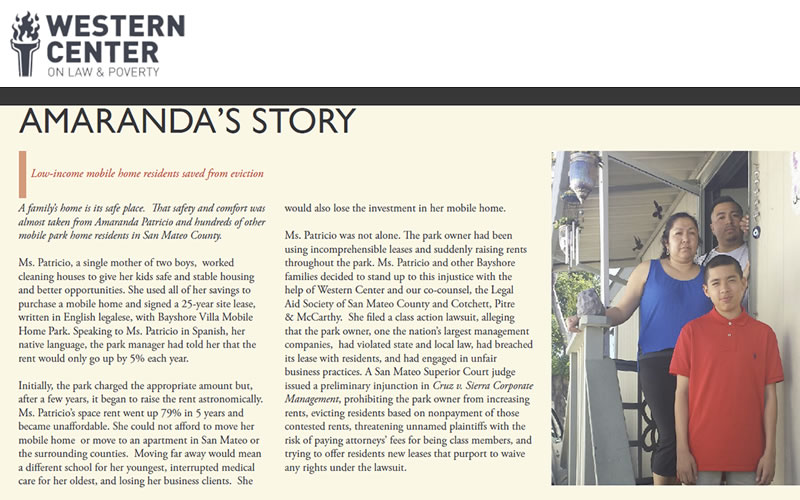 Western Center on Law & Poverty - Amaranda's Story