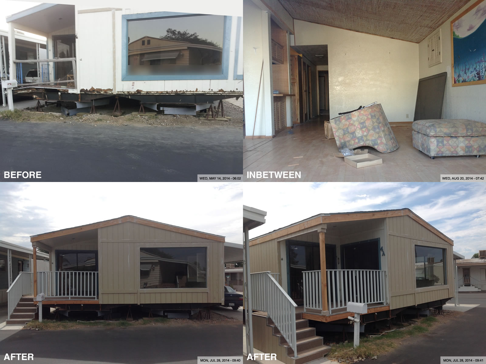 100 before and after homes home exterior makeover home exterior makeovers in royal oak - Paint for mobile homes exterior ...