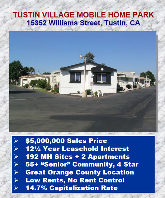 Tustin Village MHP For Sale Brochure