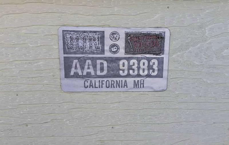 HCD Decal Number AAD 9383