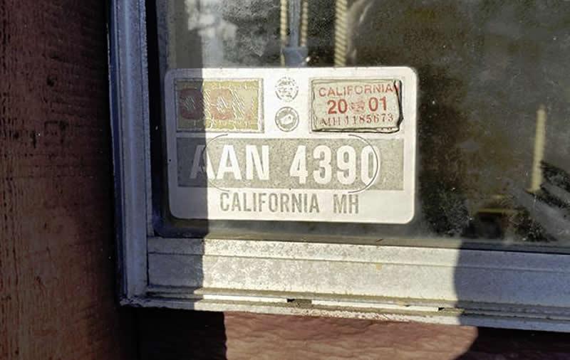 HCD Decal Number AAN 4390