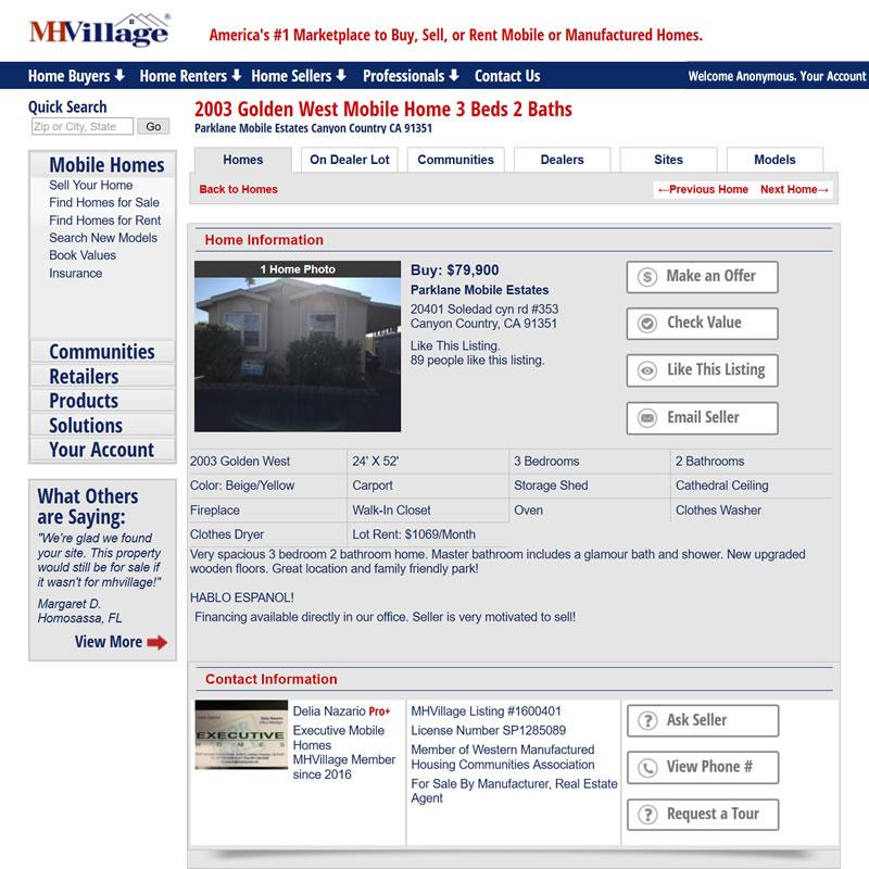 MHVillage Listing #1600401