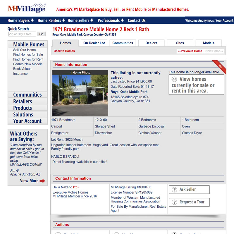 MHVillage Listing #1600483