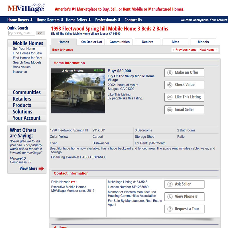 MHVillage Listing #1613545