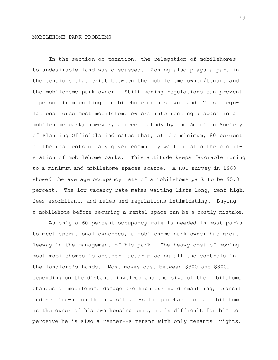 1974 - Mobilehome Park Problems - Page 49