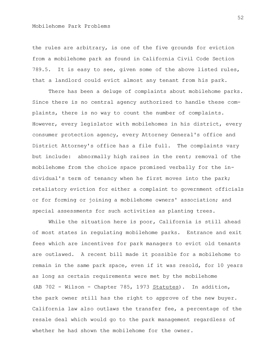 1974 - Mobilehome Park Problems - Page 52