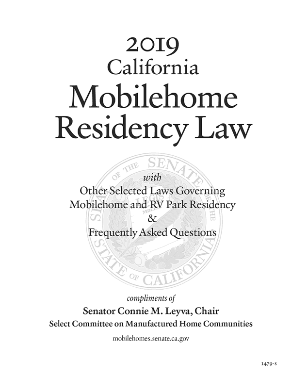 2019 California Mobilehome Residency Law