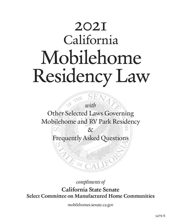 2021 California Mobilehome Residency Law