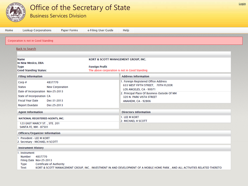 State of New Mexico - Office of the Secretary of State